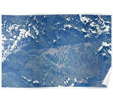 Bucaramanga, Colombia From Space Poster
