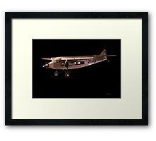 1933 Ford Tri-Motor Cargo Plane Framed Print