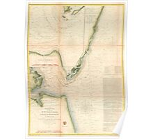 Vintage Map of The Chesapeake Bay Entrance (1855) Poster