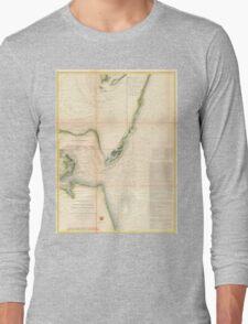Vintage Map of The Chesapeake Bay Entrance (1855) Long Sleeve T-Shirt