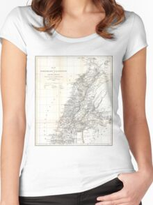 Vintage Map of Lebanon (1856) Women's Fitted Scoop T-Shirt