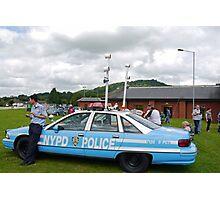 Vintage N Y P D  Police Car Photographic Print