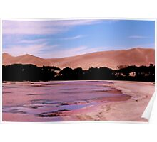 The Pink Lake and San Dunes at Port Le Hunte Poster