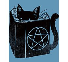 Witchcraft cat - Blue Photographic Print
