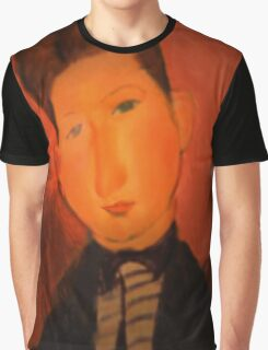 portrait of a boy wearing a tie Graphic T-Shirt