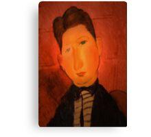 portrait of a boy wearing a tie Canvas Print
