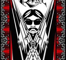 Leon Russell, Rock & Roll Hall of Fame, Commemorative Art by artist L. R. Emerson II by L R Emerson II