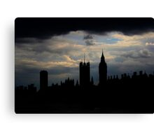 Stormy London Canvas Print