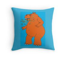 Hungry Hippo Need Udon Noodles Osaka Style Throw Pillow