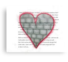 Hello My Old Heart Canvas Print