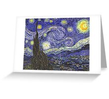 'Starry Night' by Vincent Van Gogh (Reproduction) Greeting Card