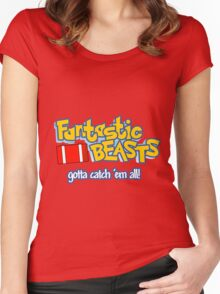 Fantastic Beasts - gotta catch 'em all Women's Fitted Scoop T-Shirt