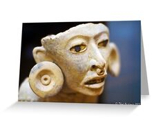Mayan figure Greeting Card