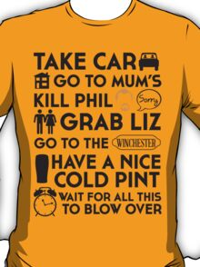 SHAUN OF THE DEAD THE PLAN T-Shirt