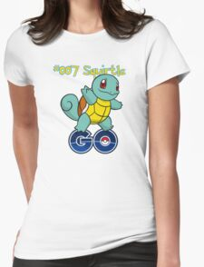 007 Squirtle GO! Womens Fitted T-Shirt