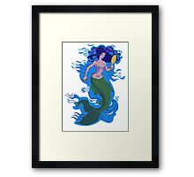 Floating Mermaid Framed Print