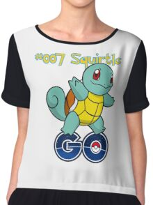 007 Squirtle GO! Chiffon Top
