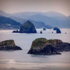 Hay Stack Rock at Cannon Beach by Yukondick