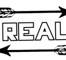 "The Hunger Games ""Real"" Print Sticker"