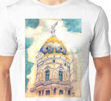 Metropolis building . Madrid. Unisex T-Shirt