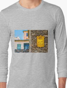 Saint Tropez vintage Post Box and house facades Long Sleeve T-Shirt