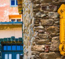 Saint Tropez vintage Post Box and house facades Sticker
