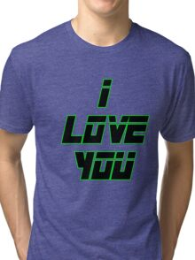 I Love You - METAL GEAR SOLID Tri-blend T-Shirt