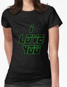 I Love You - METAL GEAR SOLID Womens Fitted T-Shirt