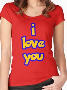 I Love You - POKEMON Women's Fitted Scoop T-Shirt