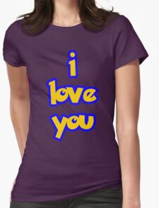 I Love You - POKEMON Womens Fitted T-Shirt
