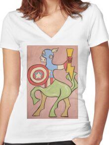 Centaur America Women's Fitted V-Neck T-Shirt