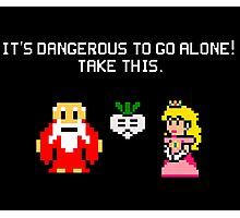 It's dangerous to go alone stitch face Photographic Print