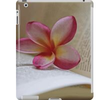 Frangipani And Book iPad Case/Skin