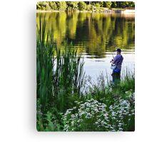 fishing is fun Canvas Print