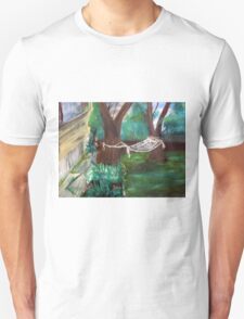 Warm Summer in the Back Yard-En plein air  Unisex T-Shirt