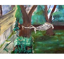 Warm Summer in the Back Yard-En plein air  Photographic Print