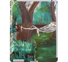 Warm Summer in the Back Yard-En plein air  iPad Case/Skin