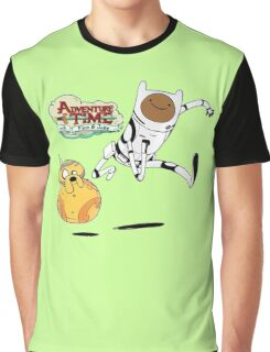 Adventure Time Finn and Jake Robot Graphic T-Shirt