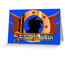 Sonic Mania. Showcase of the Fast. Greeting Card
