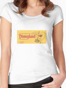 Vintage Disneyland, Junior ticket, tink, tinkerbell Women's Fitted Scoop T-Shirt