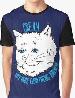 Cream Cat Rule Graphic T-Shirt