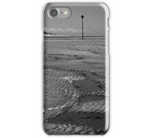 Walking on an empty beach iPhone Case/Skin