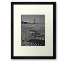 Walking on an empty beach Framed Print