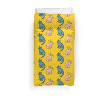 Bunny and cat Duvet Cover