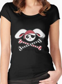 Cute Pirabbit Pirate Bunny Rabbit Women's Fitted Scoop T-Shirt