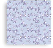 Moth Matrix in Lavender Canvas Print