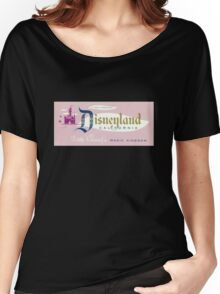 Vintage Disneyland, Magic Kingdom ticket Women's Relaxed Fit T-Shirt