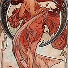 'Dance' by Alphonse Mucha (Reproduction) by Roz Abellera Art