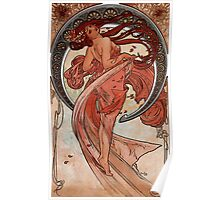 'Dance' by Alphonse Mucha (Reproduction) Poster