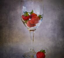 Strawberry Still Life III by Sandra Cockayne